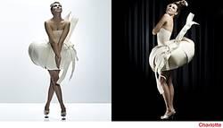 inszenierung von Designermode black & white